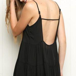 Brandy Melville Jada Dress Floral Open Back Dress